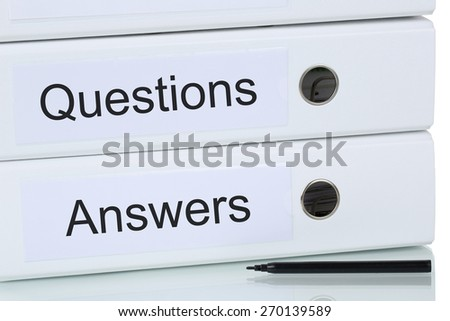 Question and answer problem solution business concept - stock photo