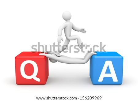 Question and Answers - stock photo