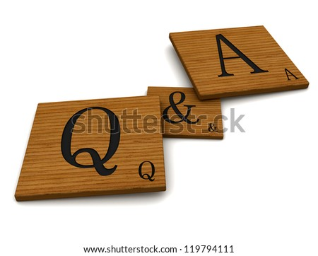 Question and answers 3D - stock photo