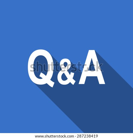 question answer flat icon  - stock photo