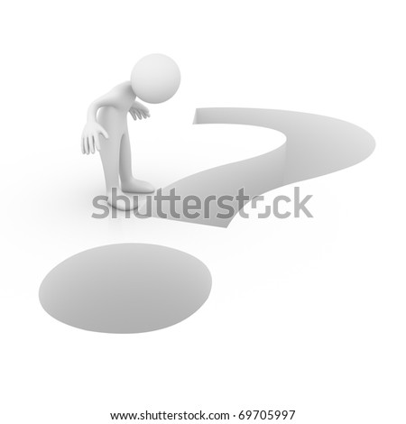 Question as a hole - stock photo