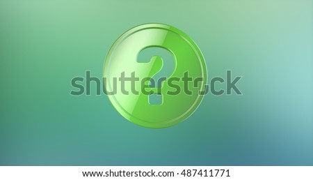 Question Badge Color 3d Icon on gradient background