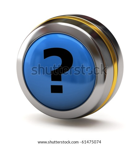Question button - stock photo