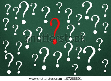Question mark - stock photo