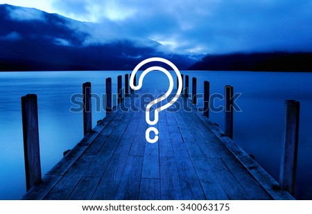 Question Mark Asking Confusion Thought Help FAQ Concept - stock photo