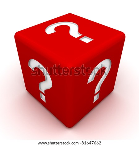Question Mark Dice - stock photo