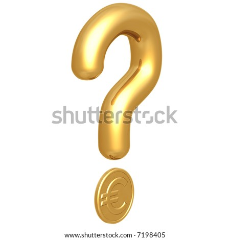 Question Mark Euro - stock photo