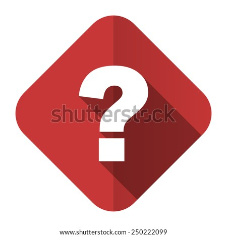 question mark flat icon ask sign  - stock photo