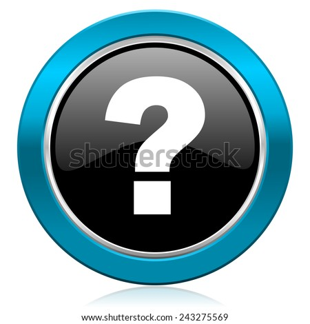 question mark glossy icon ask sign  - stock photo