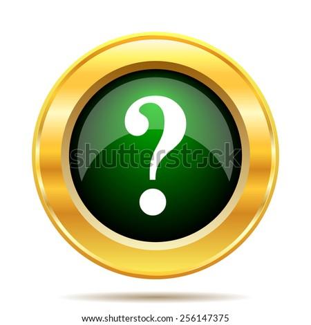 Question mark icon. Internet button on white background.  - stock photo
