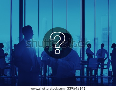 Question Mark Icon Solving Problem Solution Concept - stock photo