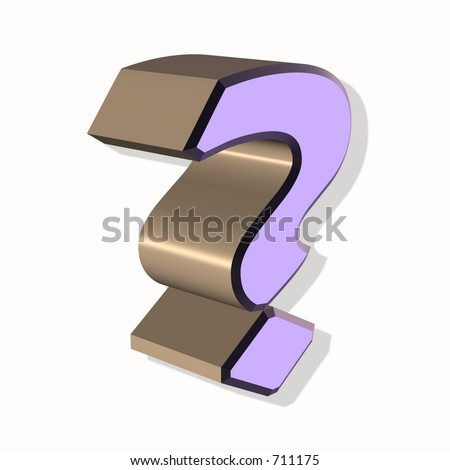 Question mark ideal for support and help departments - stock photo