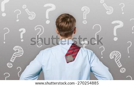 Question, mark, lost. - stock photo