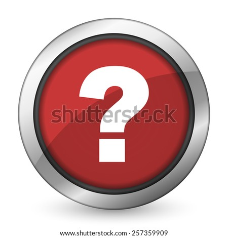 question mark red icon ask sign  - stock photo