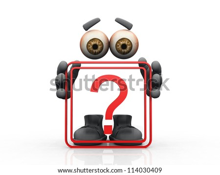 question mark  symbol on a white background - stock photo
