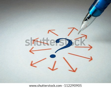 Question mark - unknowns - stock photo