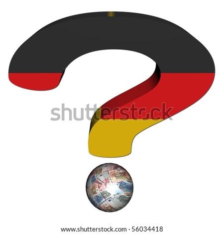 Question Mark German Flag Euros Illustration Stock Illustration