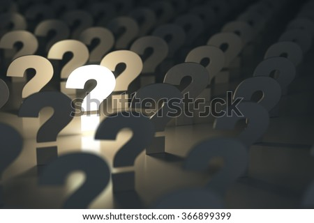 Question marks. Idea or problem concept. 3d - stock photo