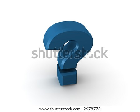 Question Sign. 3d. - stock photo