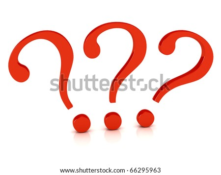 Question symbol over white background. computer generated image - stock photo