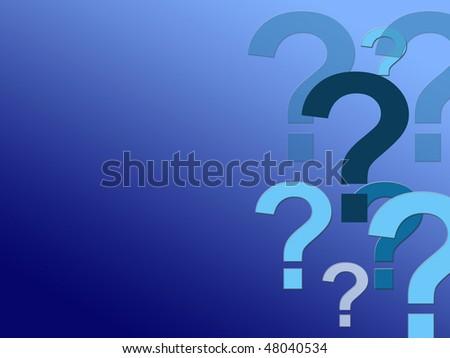 question wallpaper - stock photo