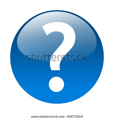 Questionmark button - stock photo