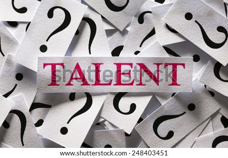 Questions about the Talent , too many question marks - stock photo
