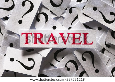 Questions about the Travel , too many question marks - stock photo