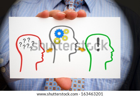 Questions and Answers - Communication Concept - stock photo