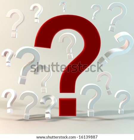 Questions Concept Image - stock photo