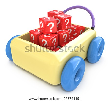 Questions for children education concept  - stock photo