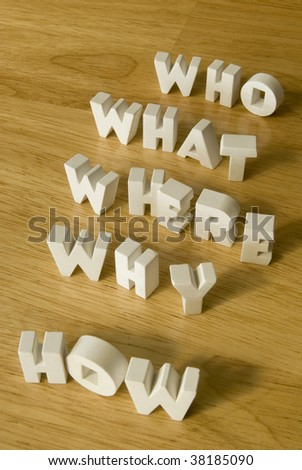 Questions variation - stock photo
