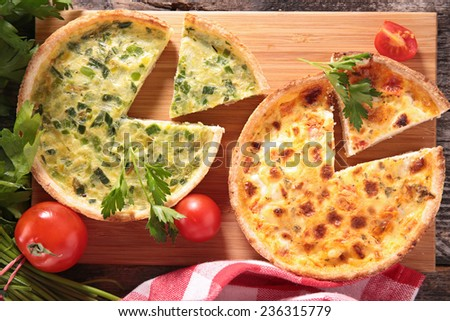 quiche - stock photo