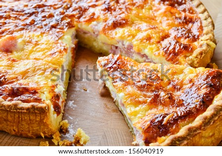 Quiche Lorraine - stock photo