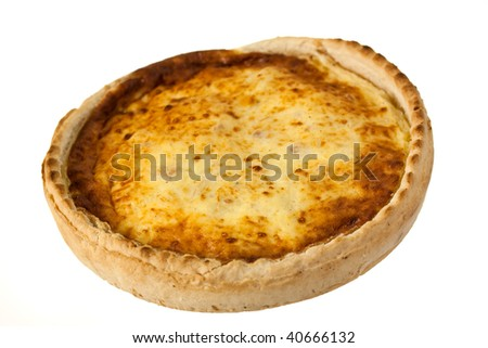 Quiche Lorraine,isolated - stock photo