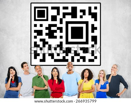Quick Response Code Price Tag Digital Technology Concept - stock photo