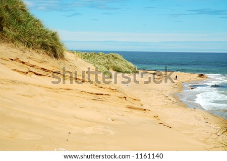 Quiet beach - stock photo