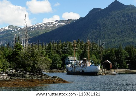 Quiet Harbor - Juneau, Alaska - stock photo