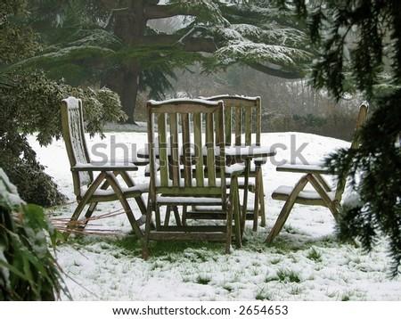 Quiet Retreat in the Snow - stock photo