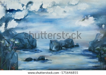 Quiet river - stock photo