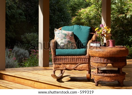 Quiet spot to relax - stock photo