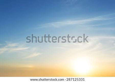 quiet sunset background - stock photo