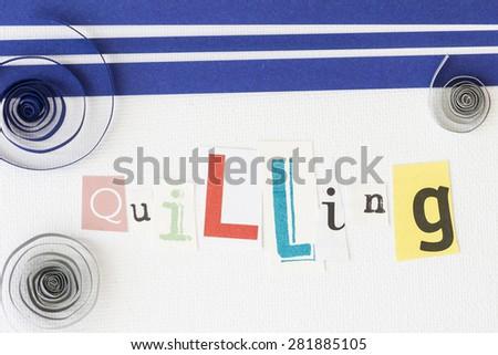 Quiiling - stock photo