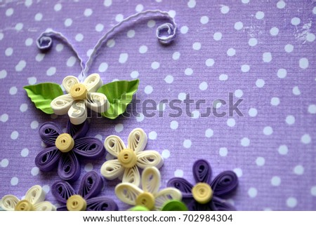 Quilling flowers made paper card design stock photo royalty free quilling flowers made of paper card design mightylinksfo