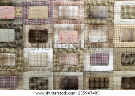 Quilt : chessboard background - stock photo