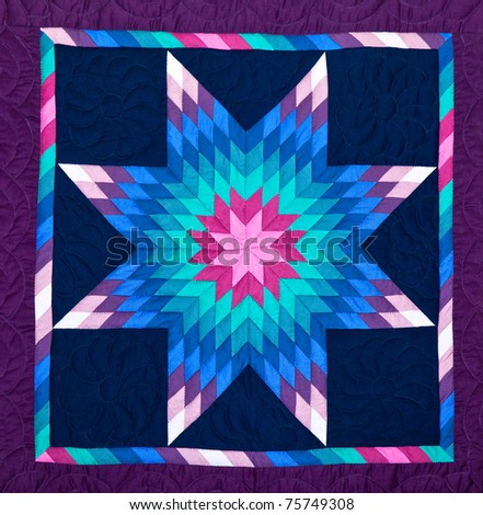 Quilt, close-up. - stock photo