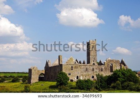quin abbey, famous in county clare, ireland