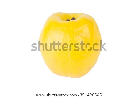Quince isolated on white background - stock photo
