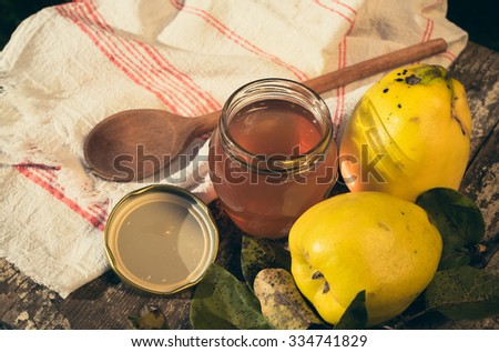 quince juice - stock photo