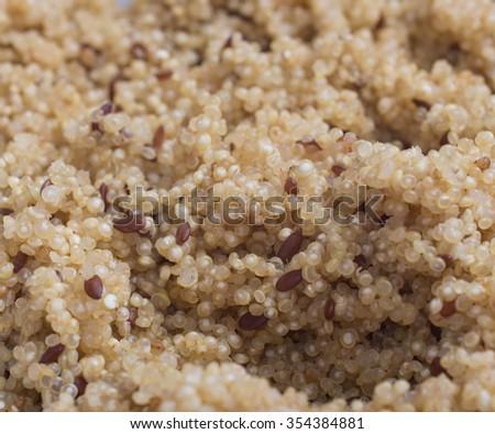 Quinoa cooked - stock photo